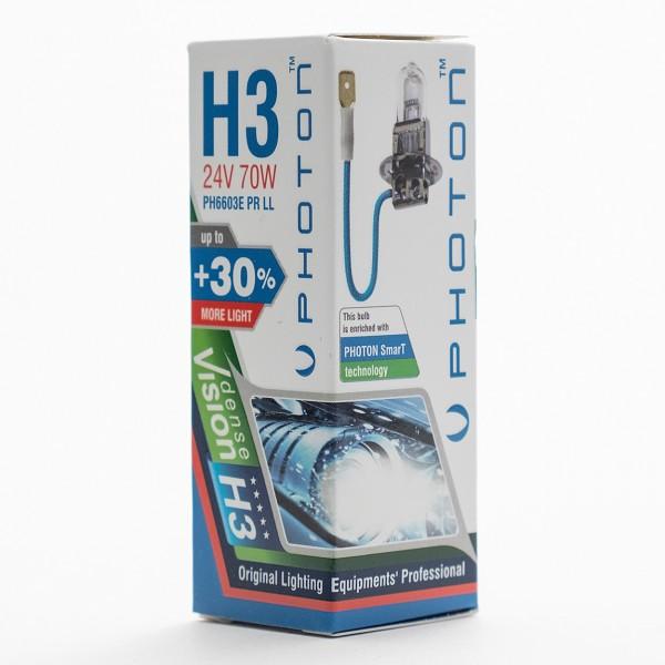Bec PHOTON H3 24V 70W PR Long Life +30% mai multa LUMINA & Durata de Viata - PH6603 LL
