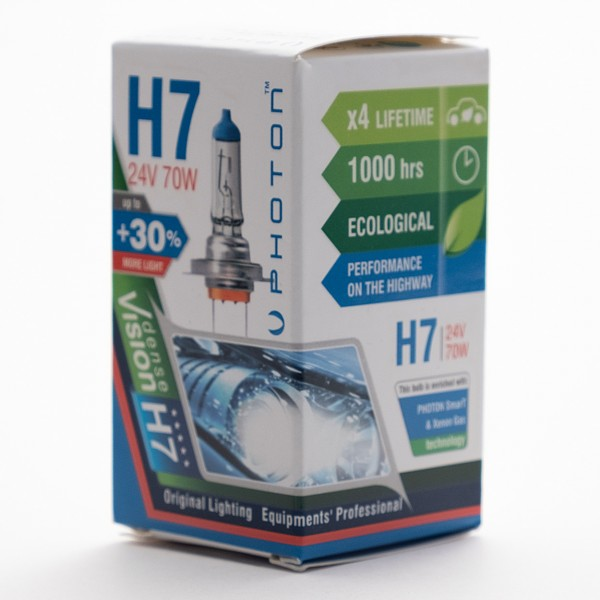 Bec PHOTON H7 24V 70W ECO +30% mai multa LUMINA & Durata de Viata - PH6607 E