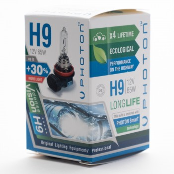 Bec PHOTON H9 12V 65W PR Long Life +30% mai multa LUMINA & Durata de Viata - PH5509 LL