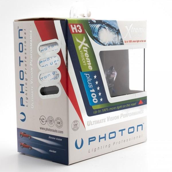 Set becuri PHOTON H3 12V 55W XTREME VISION +100% mai multa LUMINA & Durata de Viata - PH5503 XV