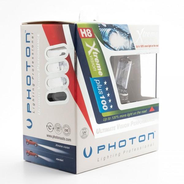 Set becuri PHOTON H8 12V 35W XTREME VISION +100% mai multa LUMINA & Durata de Viata - PH5508 XV