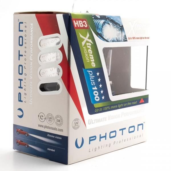 Set becuri PHOTON HB3 12V 65W 9005 XTREME VISION +100% mai multa LUMINA & Durata de Viata - PH5595 XV