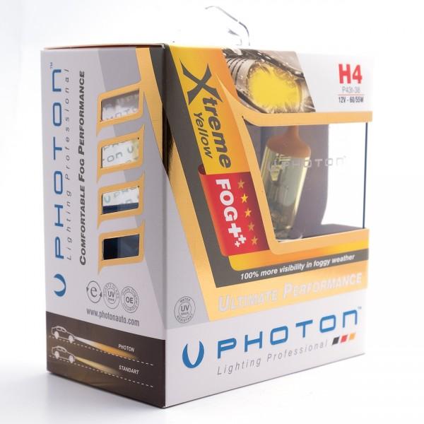 Set becuri PHOTON H4 12V 60/55W XTREME GALBEN - PH5504 XY