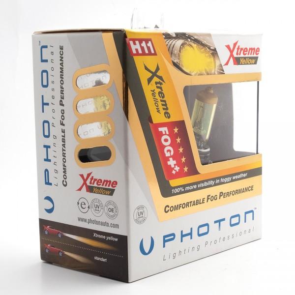 Set becuri PHOTON H11 12V 55W XTREME GALBEN - PH5511 XY