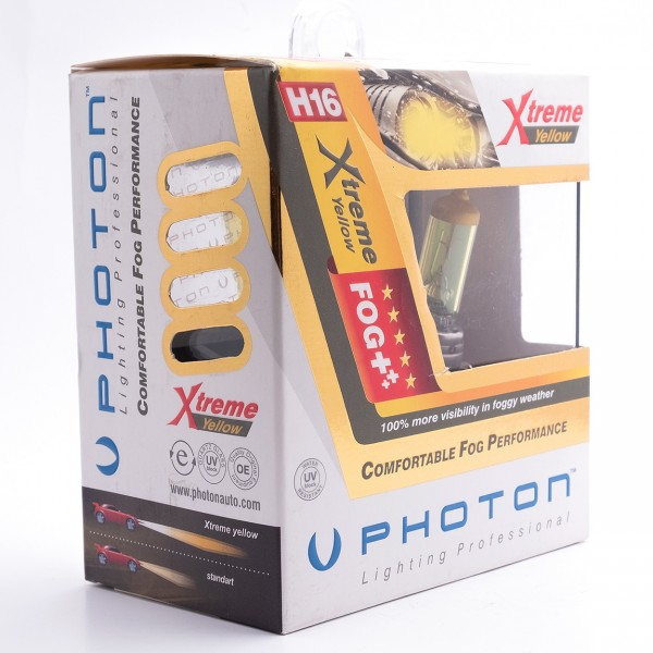 Set becuri PHOTON H16 12V 19W XTREME GALBEN                  - PH5516 XY