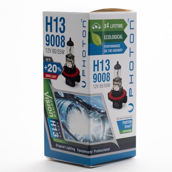 Bec PHOTON H13 12V 60/55W 9008 PR Long Life +30% mai multa LUMINA & Durata de Viata  - PH5513 LL