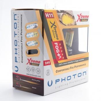 SET becuri PHOTON H11 24V 70W XTREME GALBEN - PH6611 XY