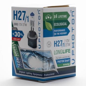 Bec PHOTON H27-1 12V 27W PR Long Life +30% mai multa LUMINA & Durata de Viata - PH5526 LL