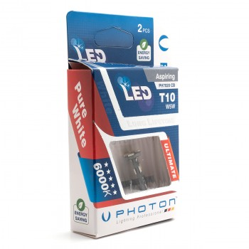 SET becuri PHOTON T10 W5W 12V CANBUS 4+4 SMD PARK LED - PH7020