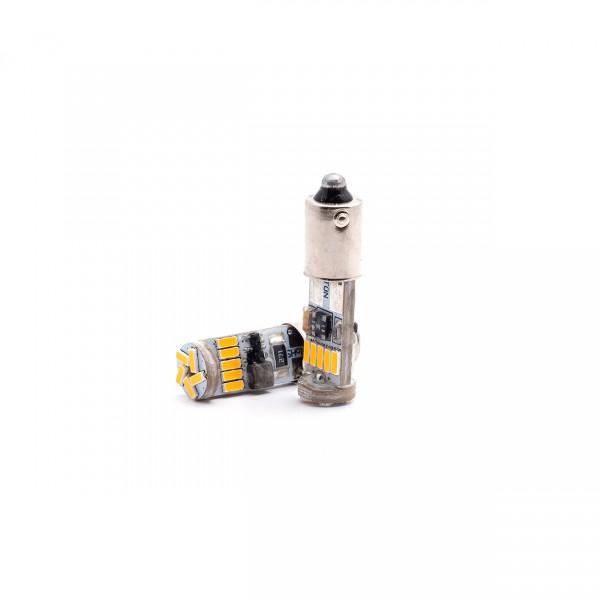 SET becuri PHOTON H21W 12V EXCLUSIVE mai multa LUMINA GALBENA CANBUS LED - PH7746 NA