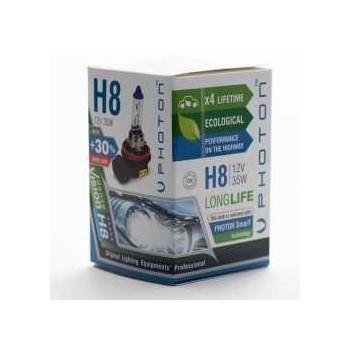 Bec PHOTON H8 12V 35W PR Long Life +30% mai multa LUMINA & Durata de Viata - PH5508 LL